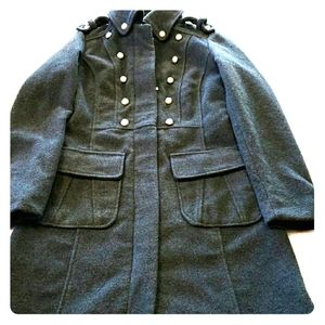 Dollhouse S Peacoat Military Style Dbl Breasted